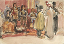 Israels, Spectators of a Tableau vivant